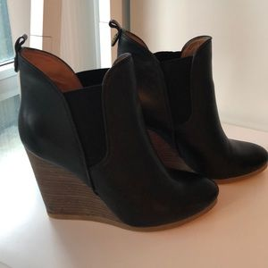 Coach Wedge Booties size 8